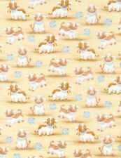 Bunnies cotton Quilt fabric BTY Timeless Treasures Cows from Cricket Island