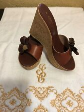 bea3b166db9c ALDO Women Wedge Platforms leather Sandal Shoes Size 6.5M US