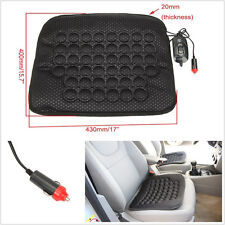 12V Black Car Off-Road Interior Seats Heated Heater Cushion Cover Warmer Pad Mat