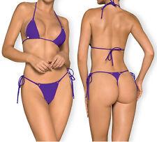 OBSESSIVE Beverelle Luxury Triangle Micro Bikini Top and Matching Thong Set