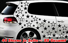 88 Sterne Star Auto Aufkleber Set Sticker Tuning Shirt Stylin WandtattooTribel w