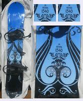 Snowboard Lamar 154 CM  w Bindings Henna Blue Black Design