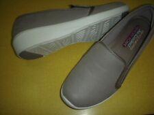 Skechers Arya Slip-On Memory Foam Demi-Wedge Comfort Shoes Women's 8.5 M Taupe