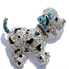 Fashion Christmas Unsex Friends Brooch Pin Crystal Love Animal Dog Jewellery Hot