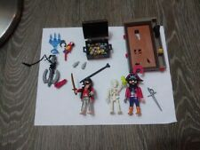 PLAYMOBIL 30+ peices PIRATE SKELETON, gold coins, parrot, mice, anchor, pirates