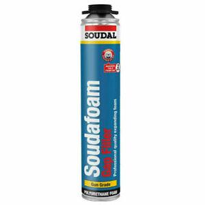 Soudal Soudafoam Gap Filler PU Foam Gun Grade Expanding Polyurethane