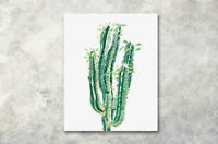 Modern Art Poster Watercolor Cactus Prints Wall Decor Canvas Painting 16x20""