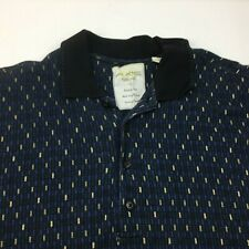 Axis Men's Casual Shirt America Style West Coast Cuffed Blue Yellow Navy Size L