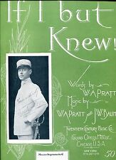 IF I BUT KNEW - W.A. PRATT - J.W. BAUME - TEMPLER SAXE ON COVER - 1901