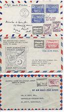 1947 Newfoundland FFC Lot of 3 - Gander to Ankara, Turkey, Pan American PAA