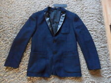 Replay men's jacket size L dark blue long sleeve virgin wool blend brand new