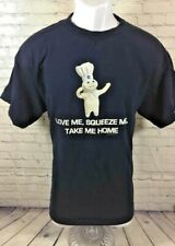 Pillsbury Doughboy Graphic T-Shirt SS Blue Love Me Squeeze Me Savvy Size Large