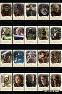 Topps Star Wars Digital Card Trader 20 Card Galactic Heritage ROTS Insert Set