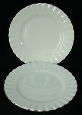"ROYAL ALBERT china CHANTILLY PLATINUM pattern BREAD PLATE 6-3/8"" set of TWO (2)"