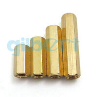 5pcs M5 8mm-50mm Female Hex Screw Brass PCB Standoffs Hexagonal Spacers