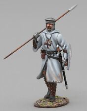 THOMAS GUNN MEDIEVAL KNIGHT MED004A CRUSADER WITH SPEAR UP WHITE SHIELD MIB