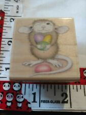 House mouse, mud pie holds jelly beans, stampabilities, 6,wooden,rubber,stamp