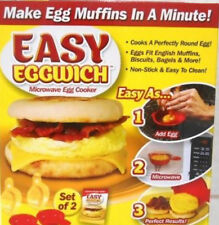EASY EGGWICH  MICROWAVE EGG COOKER SET OF 2