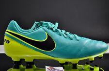 official photos c234c 25e01 Anuncio nuevoNuevo Nike Tiempo Genio Ii Cuero FG Botines Jade Negro Volt  819213-307 Talla 8.5