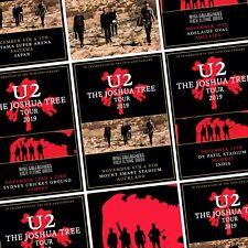 U2 Joshua Tree 2019 World Tour Oceania & Asia PHOTO Print POSTER Band 11 Cities