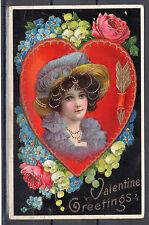 "Vintage Postcard - 'Valentine' (Dated 1910's) ""Valentine Greetings"""