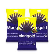 3x Marigold Extra Tough Outdoor Gardening Gloves Medium Heavy Duty Rubber