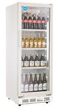 AG Gastro Flaschenkühlschrank Glastür 230 Liter 530x635x1442mm weiß