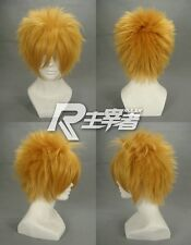 Kingdom Hearts VENTUS Final Fantasy Cloud Strife Roxas Blonde Cosplay Wig +NET