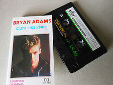BRYAN ADAMS   cassette tape album CUTS LIKE KNIFE  lot 78