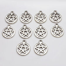 10pcs Tibetan Silver Pentagram Charms Pagan/Celtic