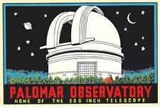 Palomar Observatory  - San Diego CA   Vintage Looking Travel Decal Label Sticker