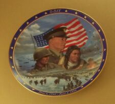 Ww World War ll A Remembrance D-Day Plate #1 Patriotic Patriot June 6, 1944