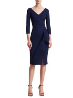 Yy La Petite Robe di Chiara Boni Sheath Cocktail Dress Day Evening Navy 10 46