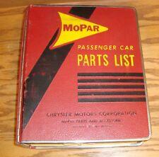 Original 1963 Plymouth Dodge Chrysler Mopar Car Parts List Catalog Manual 63