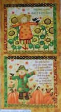 Patchwork Quilting Sewing Fabric GRATEFUL HARVEST SCARECROWS Panel 60x110cm New