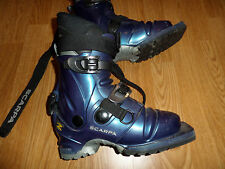 SCARPA T2 TELEMARK 3 PIN CROSS COUNTRY SKI BOOTS WOMEN'S 4.5 MONDO 22.0