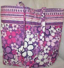Vera Bradley Large Tote Bag Purple Multi Fabric Floral