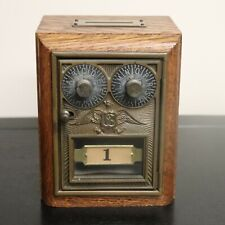 Antique Postal Post Office Box Bank Corbin DD Double Dial Eagle w/ Combo WORKS