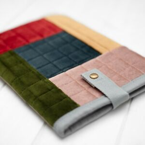 Quilted Velour Patchwork Padded Case Cover Sleeve New iPad Pro Air Mini 2021 gen