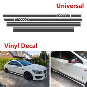 Matte Black Car SUV Side Stripe Skirt Roof And Hood Decal Graphics Vinyl Sticker