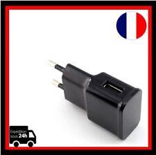 Chargeur Adaptateur 1 Port  5V-2A EU Prise Mural USB Secteur  Samsung,Sony, etc