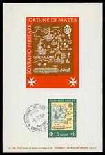 MALTESERORDEN SMOM S.M.O.M. MK 1968 MAXIMUMKARTE CARTE MAXIMUM CARD MC CM cv33