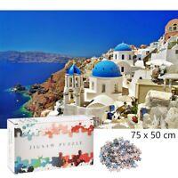 Aegean Sea 1000 Pieces Jigsaw Puzzles Santorini Picture Landscape Adult Kids Toy