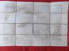 CARTE GEOGRAPHIQUE TUNISIE DJEBEL ACHKEL BIZERTE FORMAT 52.5 x 80 cm