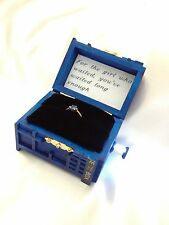 Tardis Ring Box With Light. Proposal Dr Who Ring Box.