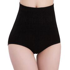 Women Solid High Waist Brief Girdle Body Shaper Slim Tummy Pants Underwear NIUK Bllack