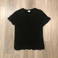 Armani Collezioni Womens Size 8 Black S/S Knit Stretch Top