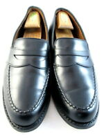 """Allen Edmonds """"RANDOLPH"""" Leather Penny Loafers 10 D Black Made in USA  (395)"""