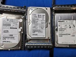 Fujitsu Seagate Maxtor 146GB U320 SCSI 68PIN 10K + Dell Caddy