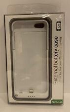 Externo Batería Alimentación caso para Apple iPhone 5 - 2200mAh-Blanco